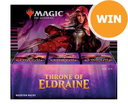 Win een boosterbox Throne of Eldraine